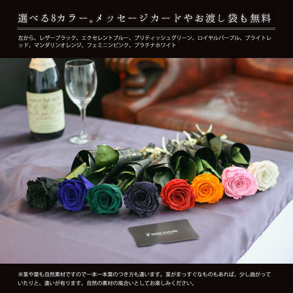 8色の大きな薔薇が並んでいる
