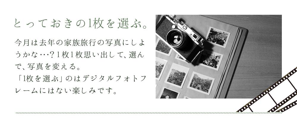 カメラとアルバムに飾られた写真
