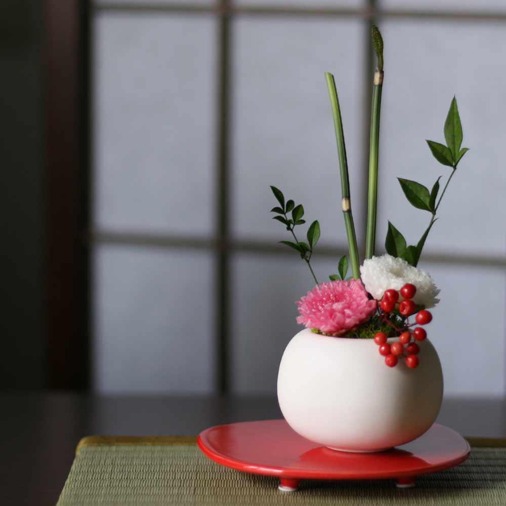 和室に飾られたお花